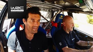WRC 2017: Mark Webber meets Miki Biasion