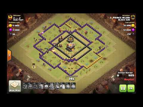 CLASH OF CLANS- TH9 GOVALOBO STRATEGY... 3 STAR/ INTENSE WAR...