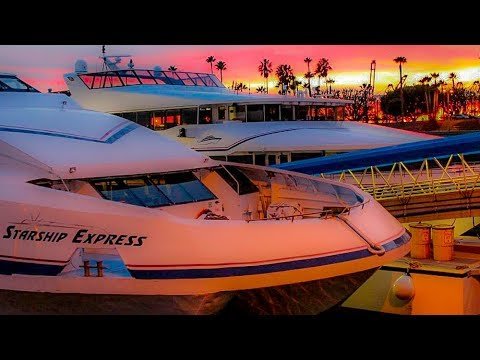 Riding The Catalina Express At Sunset from Avalon to Long Beach