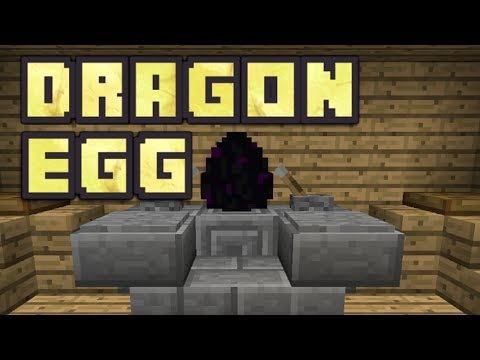 Minecraft PE - How To Get/Pick Up The Ender Dragon Egg!