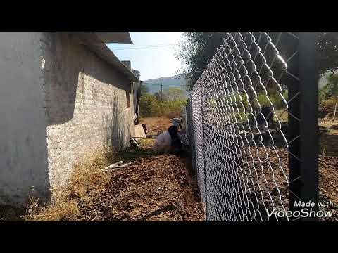 How to install Chain link fencing.