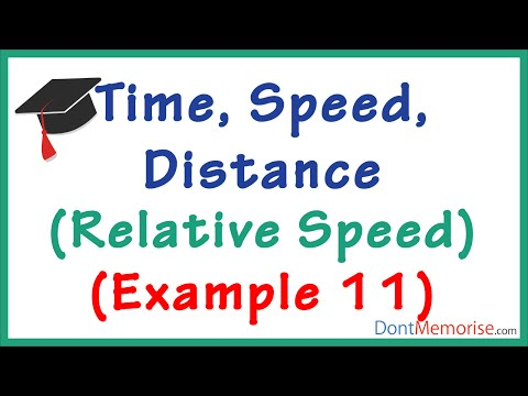 Time Speed Distance Tricks– Relative Speed Example ( GMAT / GRE / CAT / Bank PO / SSC CGL )