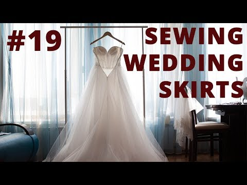 Sewing Wedding Skirts and Petticoats #19 Making a Pattern of a Skirt with Circular Folds