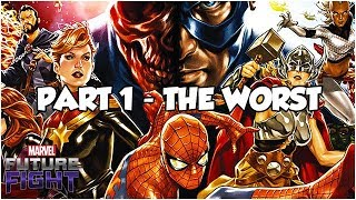 TOP 5 UPDATES (PART 1 - THE WORST) - Marvel Future Fight