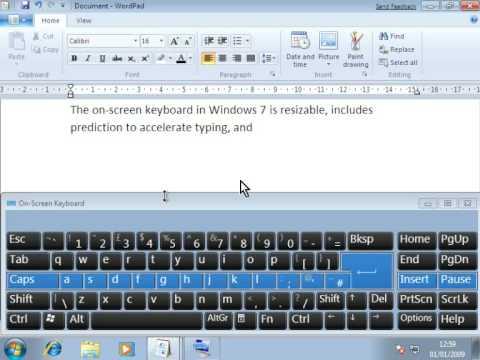Windows 7 On Screen Keyboard