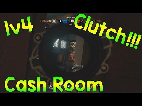 1v4 CASHROOM CLUTCH - Rainbow Six Siege