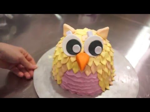 easy fondant owl cake tutorial - how to make an owl cake - Gcf