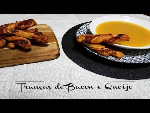 Receita: Torcidos de queijo e bacon - Recipe: Bacon & Cheese Twists
