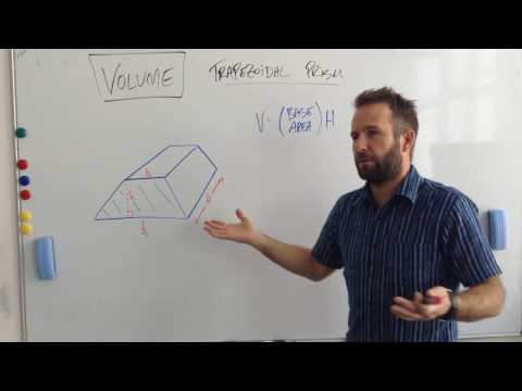 Flipped Geometry Video #23 - Volume of a Trapezoidal Prism