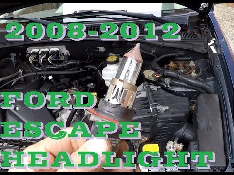 How to change headlight bulb and turn signal in 2008 - 2012 Ford Escape or Mazda Tribute