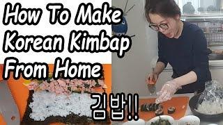 Download How To Make Korean Kimbap From Home 싱가폴 남자 김밥을 만들기 Video