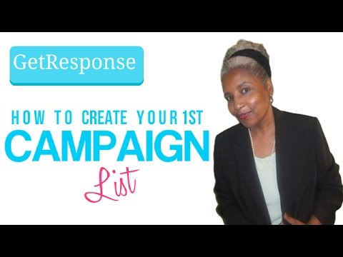 GetResponse - How To Create Your 1st Campaign List For Newbies