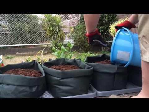 How To Make Custom Sized Potato Grow Bags & Planting PT 1