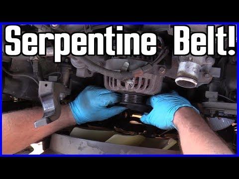 Serpentine Belt Replacement Ford F-150 5.4L V8 2004-2008