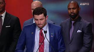 [FULL] Baker Mayfield 2017 Heisman Trophy acceptance speech | ESPN