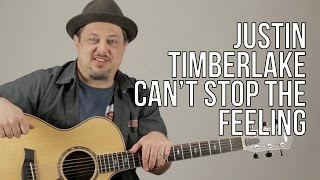 "How to Play ""Can't Stop The Feeling"" by Justin Timberlake On guitar - acoustic songs"