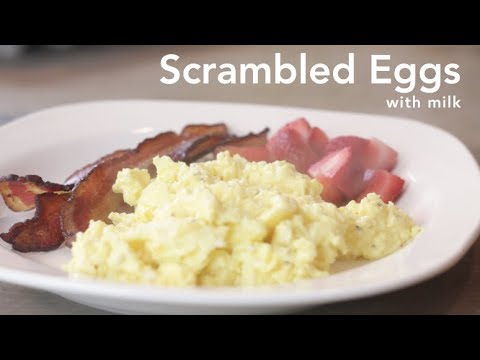 How to Cook Scrambled Eggs (with milk)