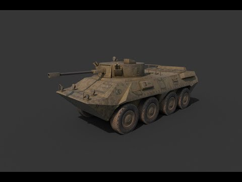 Texturing BTR 90  3ds max Substance painter tutorial final part