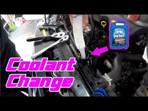 2007-2012 Nissan Sentra Radiator Flush/Coolant Change