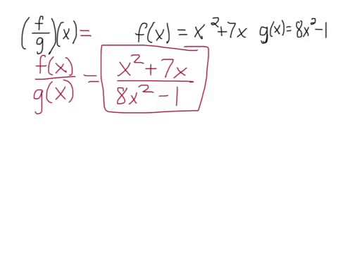 HW 2: Problem 34 Performing operations on functions and find the domain