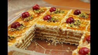 حلويات باردة سهلة وسريعة بدون فرن حلى الكاسترد والكريمة مع رباح محمد ( الحلقة 496 )