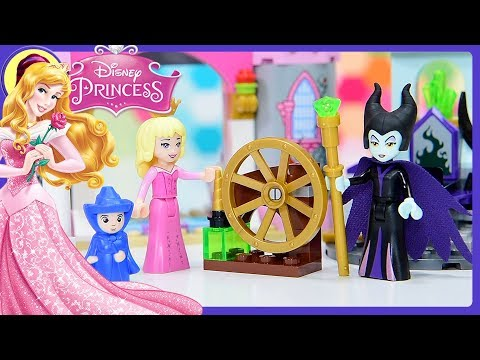 Lego Disney Princess Sleeping Beauty's Fairytale Castle Build Review Silly Play Kids Toys