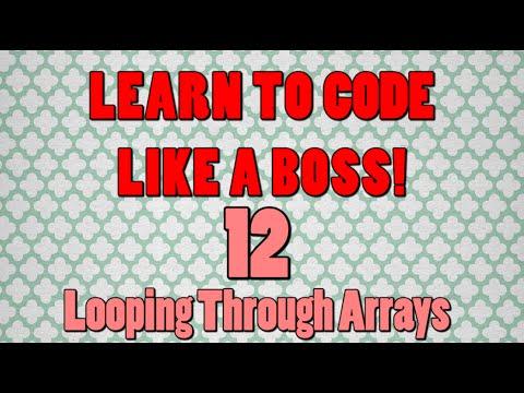 Beginner Java Tutorials: 12 Looping Through Arrays