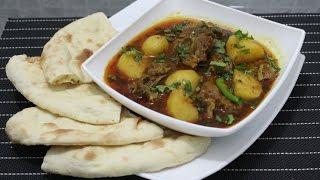 Aaloo Gosht 2 MUTTON    how to make Punjabi style potato and mutton curry