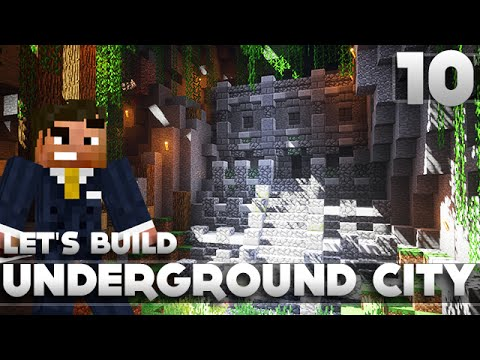 Minecraft - Advanced Underground Base/City Tutorial Let's Build Part 10 Xbox 360/PC/PS3