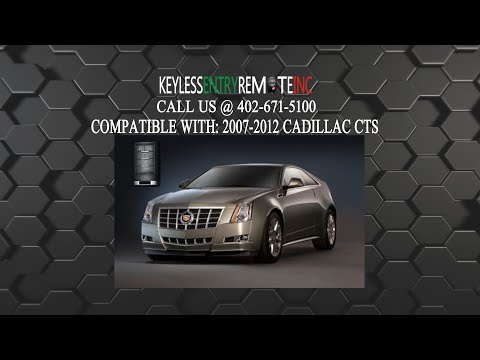 How To Replace Cadillac CTS Key Fob Battery 2007 2008 2009 2010 2011 2012