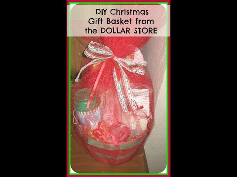 DIY: How to make Christmas Gift Basket from the DOLLAR STORE /Easy DIY Christmas Gifts