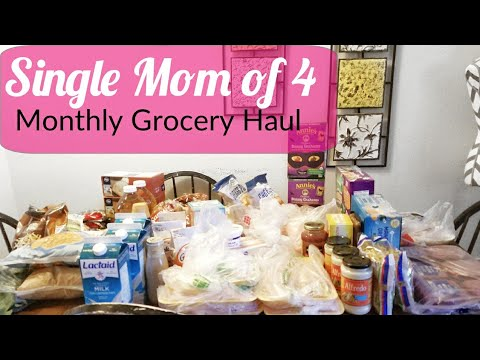 $177 Affordable  Monthly Grocery Store Shopping Haul: Single Mom of 4/ Family of 5