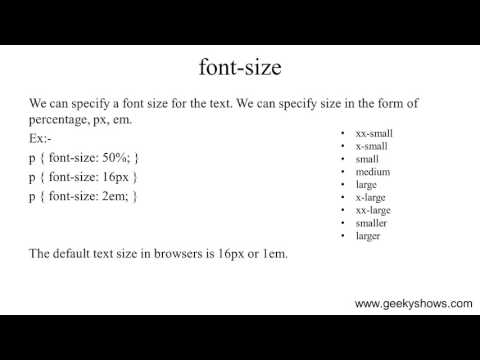 font-size property in CSS (Hindi)