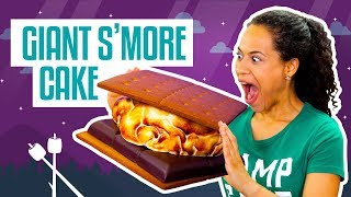 how to make a giant smores cake fluffy marshmallow fondant yolanda gampp how to cake it