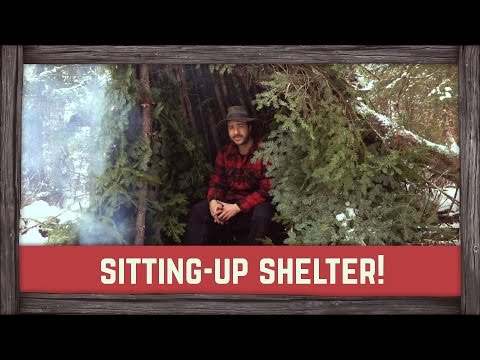 How to build a Winter Shelter for Sitting
