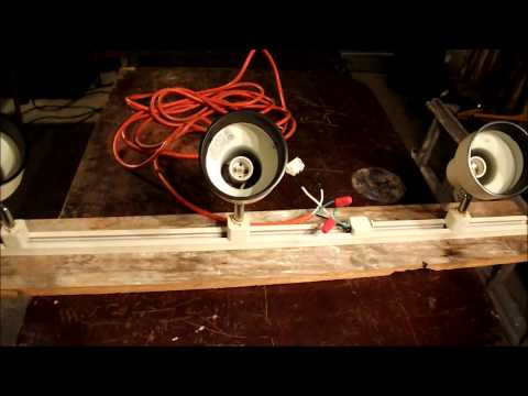DIY How to make your own lamp, shop light. Free