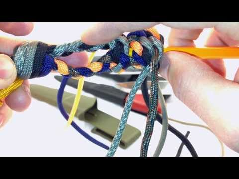 Paracordist how to tie the round crown sinnet w/ Paracord (Pt. 3 ALICE Pack Handle)