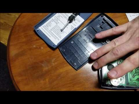 Change the battery on a calculator