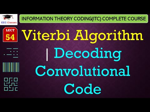 Viterbi Algorithm with Solved Example of Decoding a Code - Convolutional Codes(Hindi)