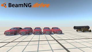 BeamNG drive - AUDI A6 VS CANHÃO.