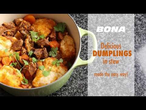 Delicious dumplings in stew made the easy way! #BonaKitchen