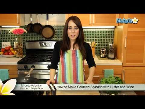 How to Make Sautéed Spinach with Butter and Wine