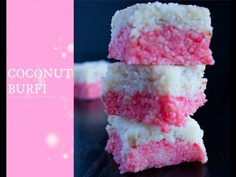 Layered Coconut Burfi | Indian Sweets