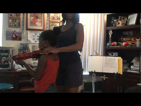 Step 4 - Learning How to Put Violin on Shoulder - 3rd Day of Violin Lessons