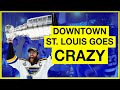 Downtown St Louis Goes CRAZY After Blues Stanley Cup Win