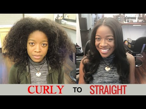 Curly To Straight Hair Tutorial - Natural Hair - Type 4 Hair