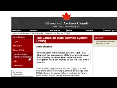 How to Get an ISBN in Canada