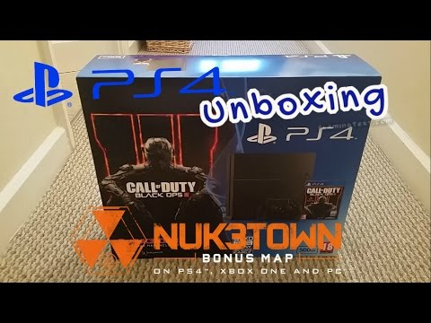 PS4 CoD Black OPs 3 Bundle unboxing with Nuketown Map CUH-1216A