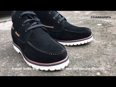 Tall Men Boots that Make You Look Taller Casual Men Elevator Shoes- CHAMARIPA