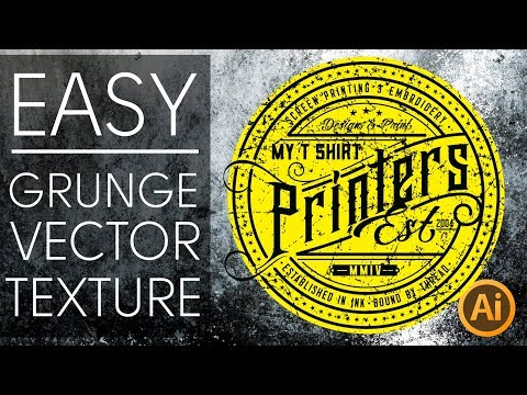 Easy Grunge Texture Illustrator Tutorial